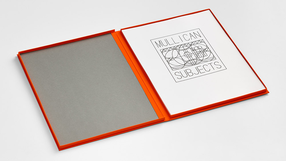 matt mullican subjects print litho portfolio clamshell box